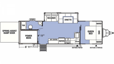2020 XLR Boost 27QBX Floor Plan Img