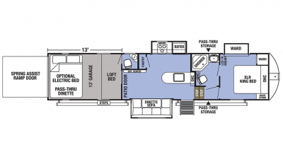 2020 XLR Boost 37TSX13 Floor Plan Img
