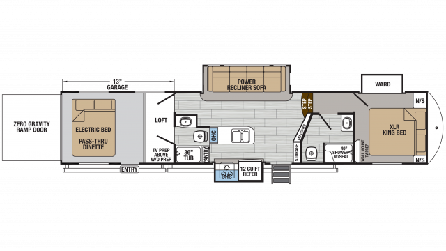 2020 XLR Thunderbolt 413AMP Floor Plan