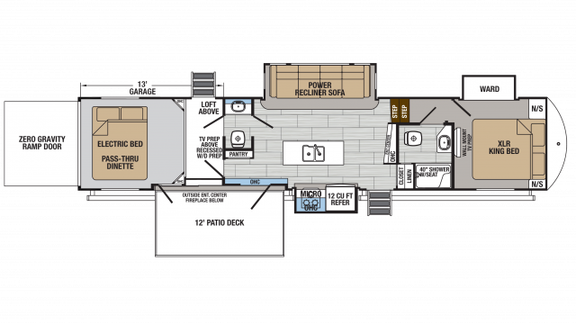 2020 XLR Thunderbolt 422AMP Floor Plan