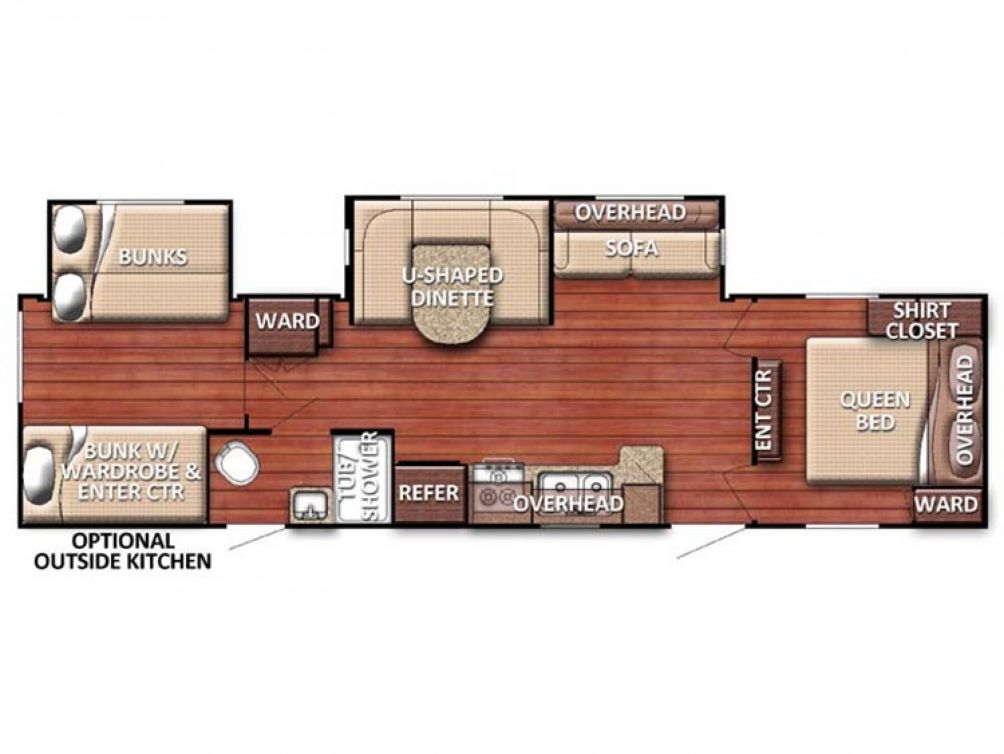2018 Conquest 323TBR Floor Plan Img