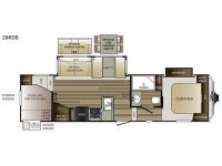 2018 Cougar 28RDB Floor Plan