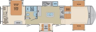 2019 Columbus Compass Series 381FLC Floor Plan Img