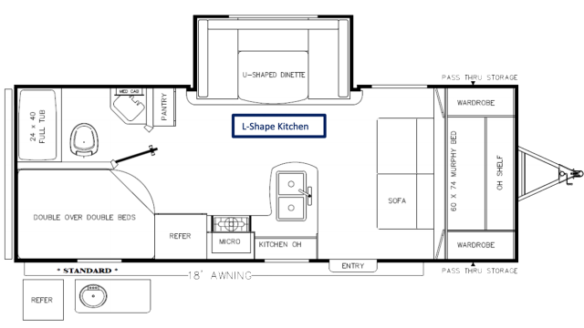 2020 Catalina SBX 221DBSCK Floor Plan