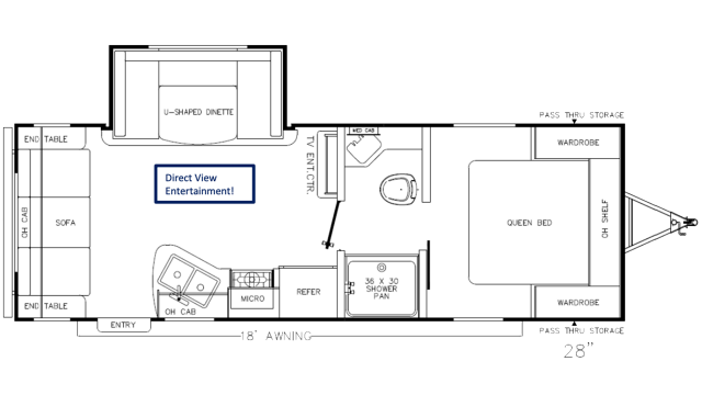 2020 Catalina SBX 231MKS Floor Plan