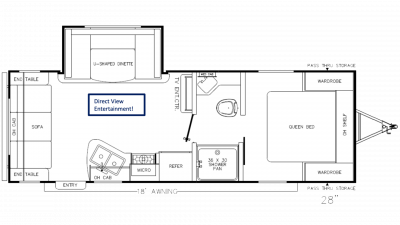 Catalina SBX 231MKS Floor Plan - 2020