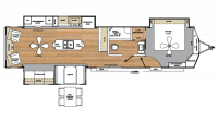 2019 Catalina Destination 39RLTS Floor Plan