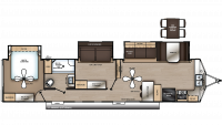 2019 Catalina Destination 39FKTS Floor Plan