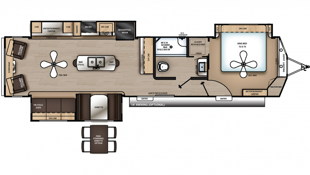 2019 Catalina Destination 39RLTS Floor Plan Img