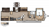 2019 Catalina Destination 40BHTS Floor Plan