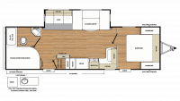 2019 Catalina Legacy Edition 273BHS Floor Plan