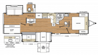 2019 Catalina Legacy Edition 313DBDS CK Floor Plan