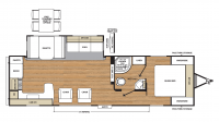 2019 Catalina Legacy Edition 283RKS Floor Plan