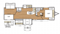 2019 Catalina Legacy Edition 333BHTS CK Floor Plan