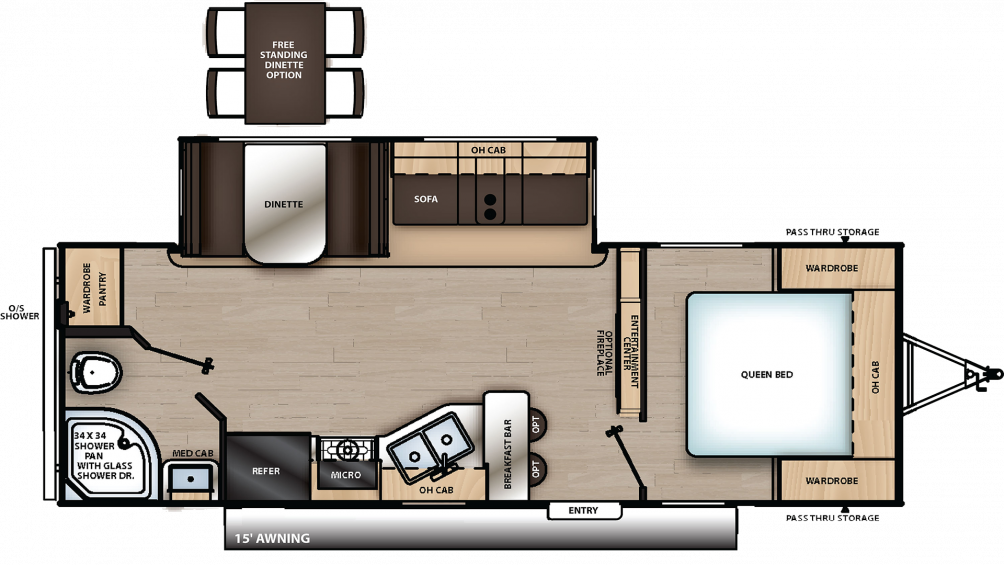 2019 Catalina Legacy Edition 243RBS Floor Plan Img