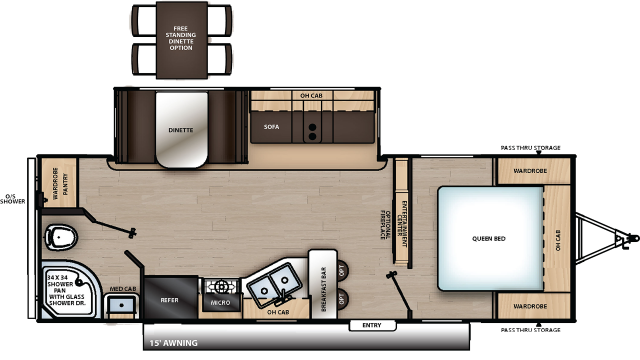 2019 Catalina Legacy Edition 243RBS Floor Plan