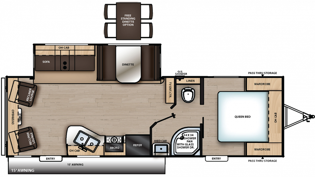2019 Catalina Legacy Edition 263RLS Floor Plan Img