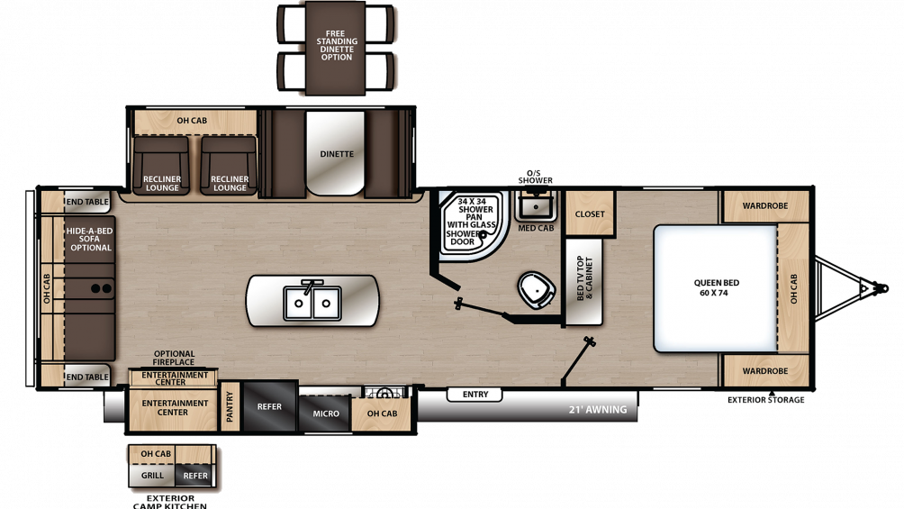2019 Catalina Legacy Edition 293RLDS Floor Plan Img