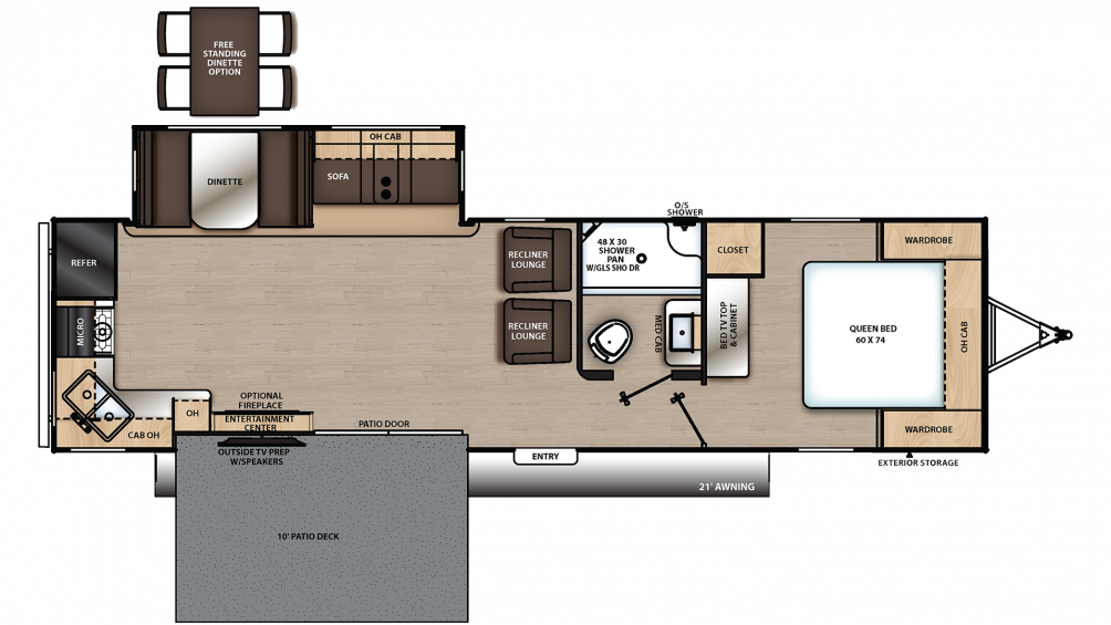 2019 Catalina Legacy Edition 303RKP Floor Plan Img