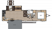 2019 Catalina Legacy Edition 303RKP Floor Plan
