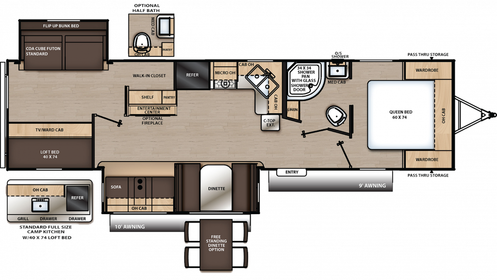 2019 Catalina Legacy Edition 313DBDSCK Floor Plan Img
