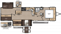 2019 Catalina Legacy Edition 313DBDSCK Floor Plan