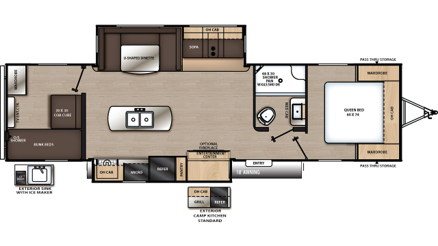 2019 Catalina Legacy Edition 313DSRBCK Floor Plan
