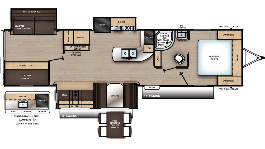 2019 Catalina Legacy Edition 333BHTSCK Floor Plan Img