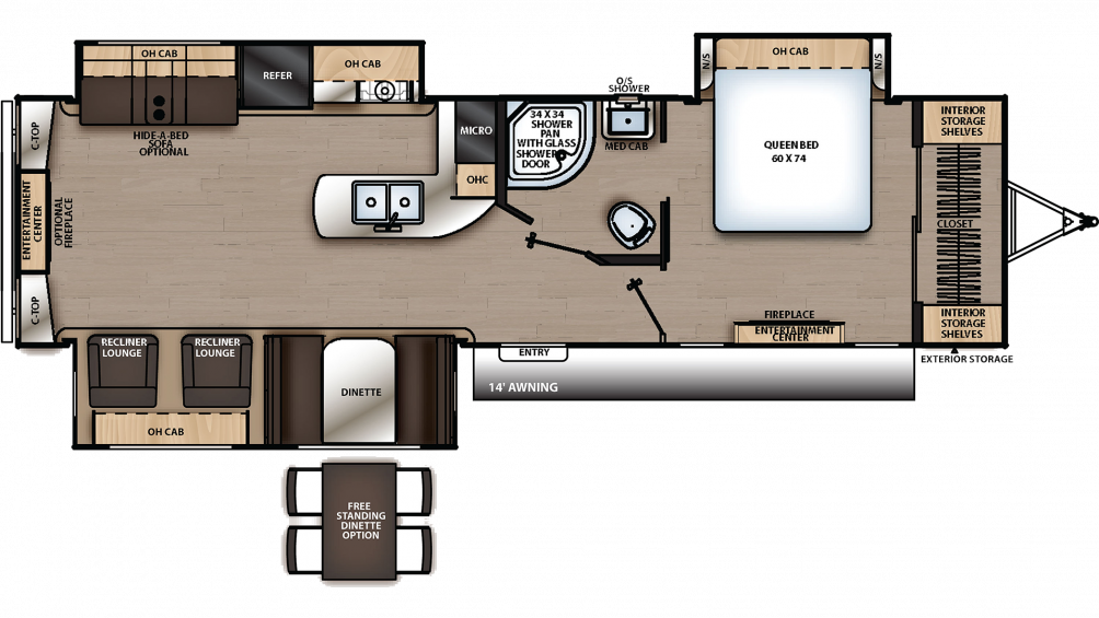 2019 Catalina Legacy Edition 333RETS Floor Plan Img