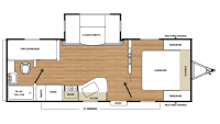 2019 Catalina SBX 221TBS Floor Plan