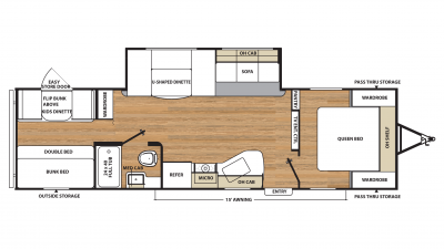2019 Catalina SBX 291QBS Floor Plan Img