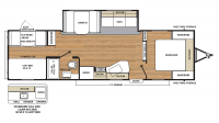 2019 Catalina SBX 301BHSCK Floor Plan