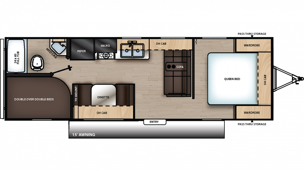2019 Catalina SBX 261BH Floor Plan Img