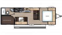 2019 Catalina SBX 261BH Floor Plan