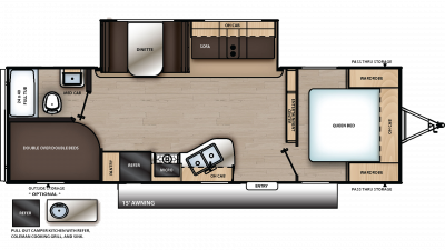 2019 Catalina SBX 261BHS Floor Plan Img
