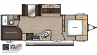 2019 Catalina SBX 261BHS Floor Plan