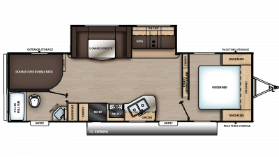 2019 Catalina SBX 281DDS Floor Plan Img