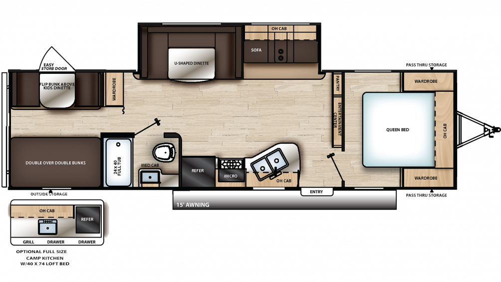 2019 Catalina SBX 291BHS Floor Plan Img