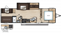 2019 Catalina SBX 291BHS Floor Plan