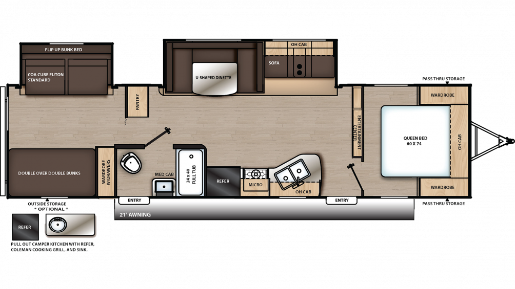 2019 Catalina SBX 321BHDS Floor Plan Img