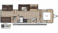 2019 Catalina SBX 321BHDS Floor Plan