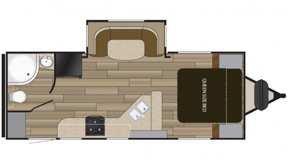 2019 Fun Finder Xtreme Lite 21RB Floor Plan Img