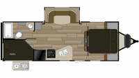 2019 Fun Finder Xtreme Lite 23BH Floor Plan