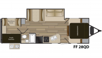 2019 Fun Finder Xtreme Lite 28QD Floor Plan