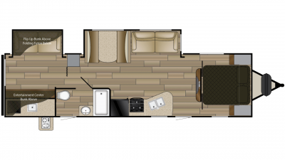 2019 Fun Finder Xtreme Lite 31BH Floor Plan Img