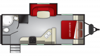 2019 Shadow Cruiser 225RBS Floor Plan
