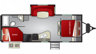 2019 Shadow Cruiser 240BHS Floor Plan Img
