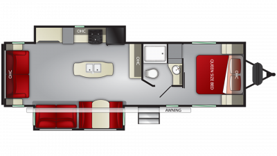 2019 Shadow Cruiser 298RLS Floor Plan Img
