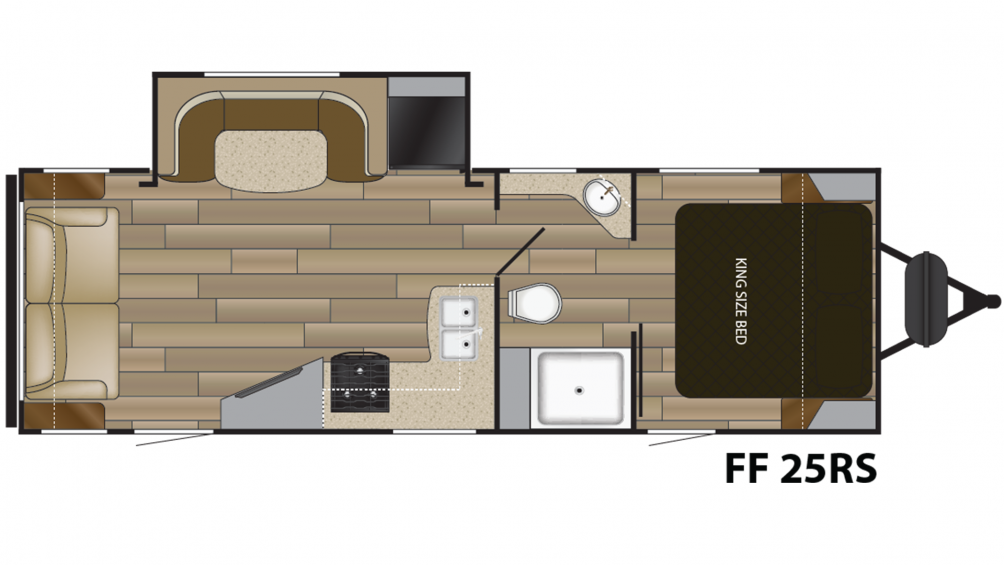 2019 Fun Finder Xtreme Lite 25RS Floor Plan Img