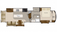 2019 Elite Suites 38KSSB4 Floor Plan